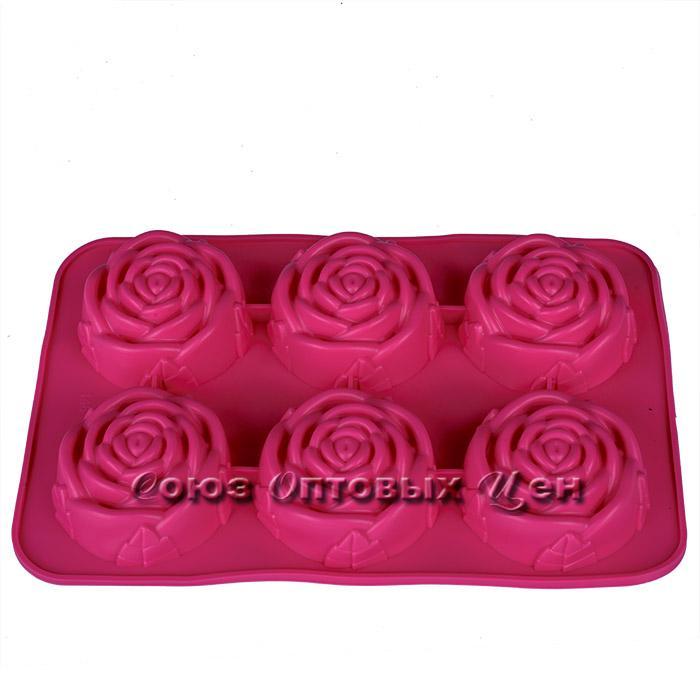 форма силиконовая для выпечки  на 6 кексов, JSC146 №14