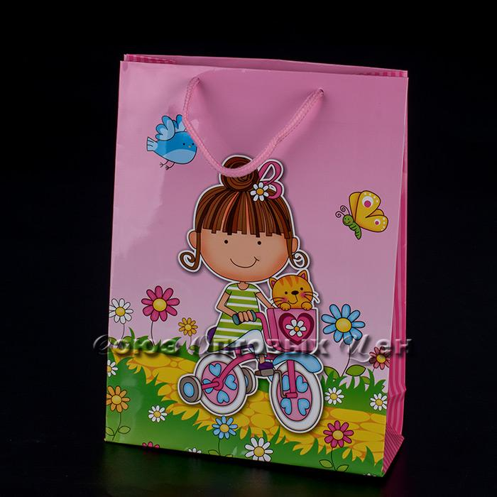 Пакет подарочный бумага   18*24  13*