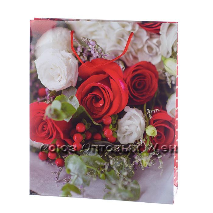 Пакет подарочный бумага   28*34  86*