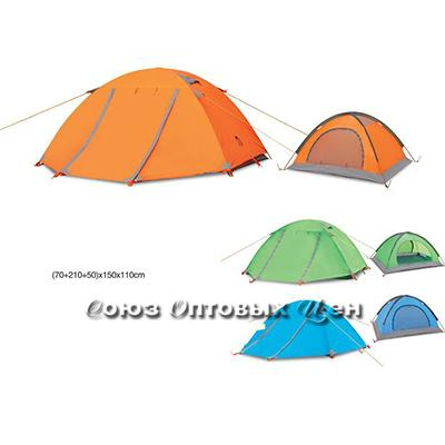палатка 2 слоя 2 места 70*210*150*110 Комфорт-2+ YJL-0001