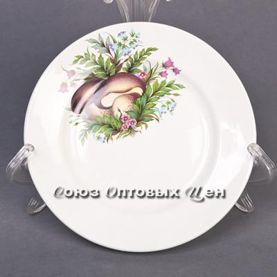 тарелка 175 мел гр8 Грибы-2 057 (уп20шт)