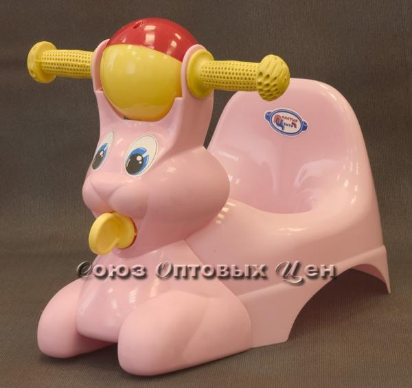 горшок детский с игр Зайчик розовый ПЦ2710РЗ
