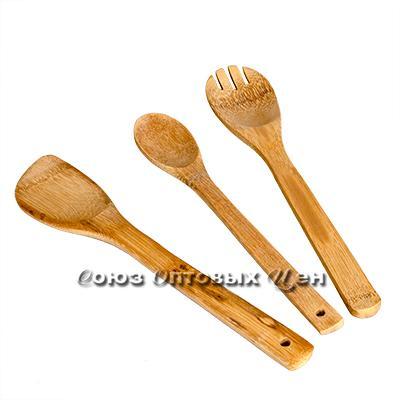 лопатки для приготовления пищи бамбук 3шт в пакете K-16 DOMINA
