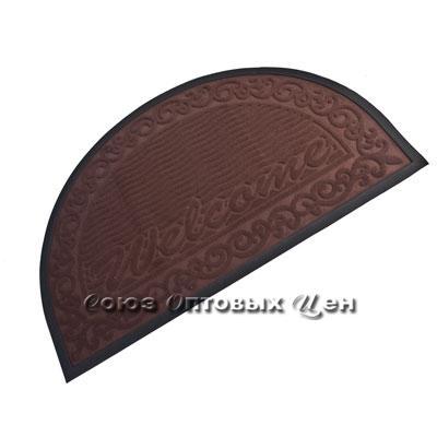 коврик резиновый с ворсом полукруг