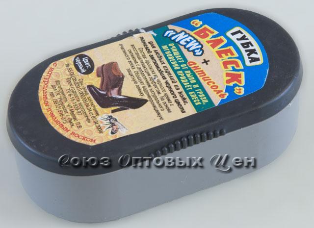 губка д/обуви Блеск черный (уп/12шт) (кор144 шт)