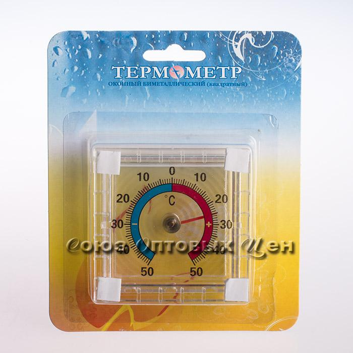 термометр оконный биметал. квадр. ТББ блистер