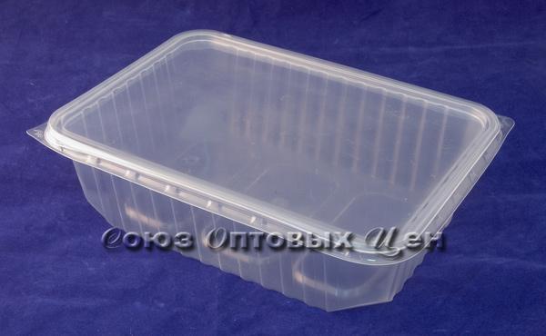 контейнер UP 750мл прямоуг.186*132*52  100/500  НИЗК. с кр.