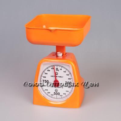 весы кухонные механ 1кг в пласт корпусе