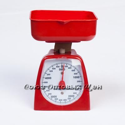 весы кухонные механ 5кг в пласт корпусе