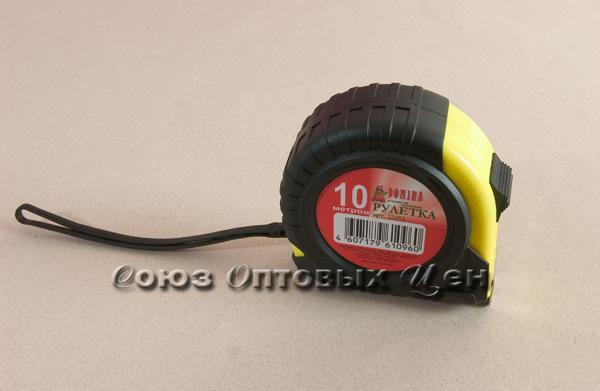 рулетка DOMINA 10м  резино-пласт магнит (уп=6шт)