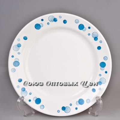тарелка 200 мел гр6 Синий горох 056 (уп/20шт)