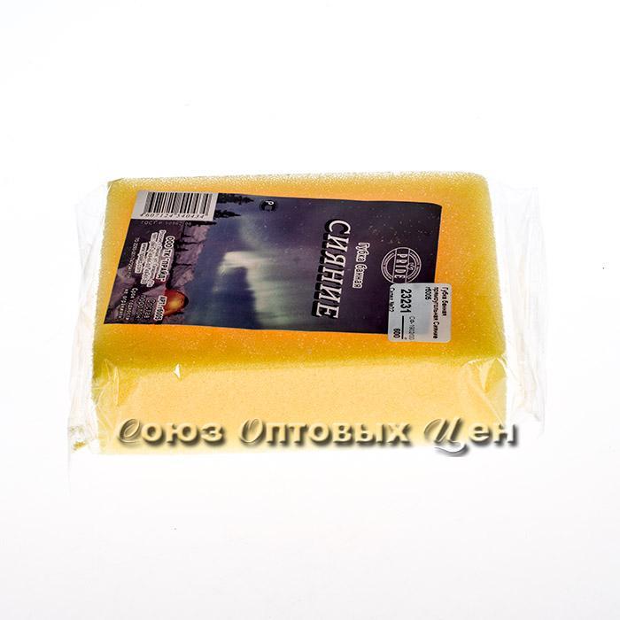 Губка банная прямоугольная Сияние гб005 (13*10*4см пенополиуретан)