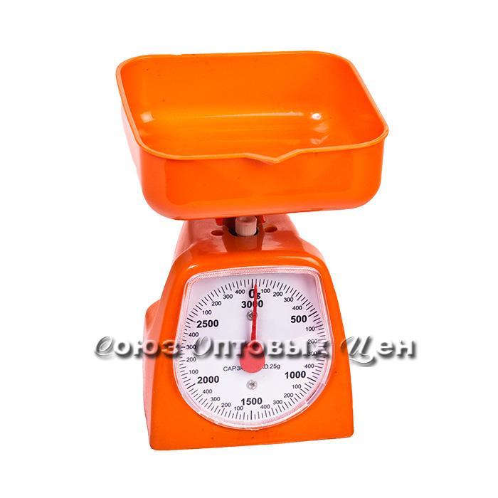 весы кухонные механ 3кг в пласт корпусе