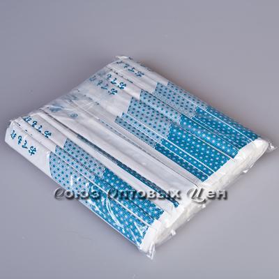 палочки д/еды деревян в бум.уп. синие 100пар 20см