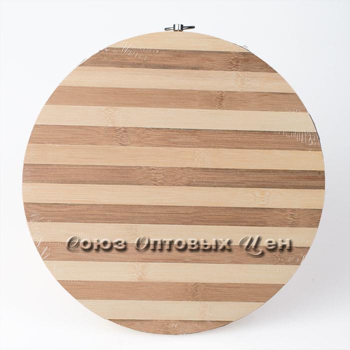 доска раздел бамбук d=30*1.2см полоска