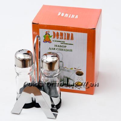 солонка метал/стекл 3пр.605 DOMINA СА2