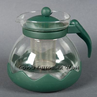 чайник заварочник стекл пласт 1500мл 304 В3
