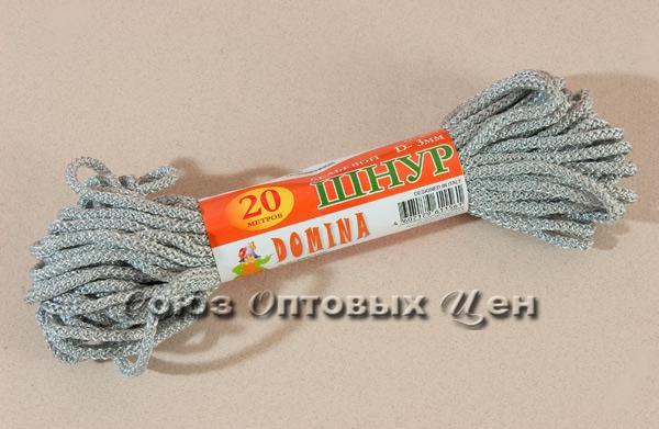 шнур бельевой 3мм/20м цветной DOMINA уп 100