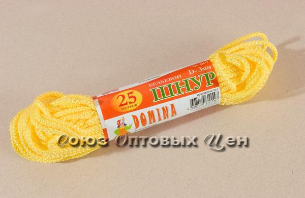 шнур бельевой 3мм/25м цветной DOMINA уп 100