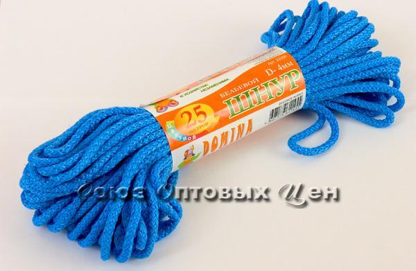 шнур бельевой 4мм/25м цветной DOMINA уп 100