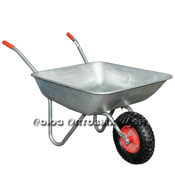 Тележка садовая метал 1 колесо 60л/130кг