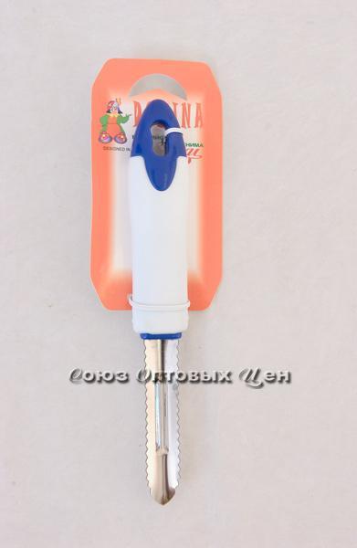 овощечист-рыбочист бел-син PF-002-12B уп/40 DOMINA