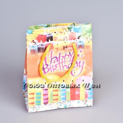 пакет подар  бум 11,5*14,5*6 День рождения SD-17 12/2400