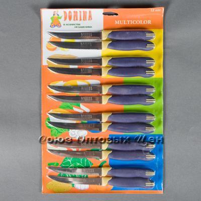 """нож кухонный DOMINA №3 с зубчиками 5"""" ручка пластик лист12 шт/уп 5 лист"""