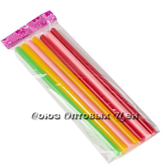 Клей палочками 7 мм цветные (18см) набор 7 шт.