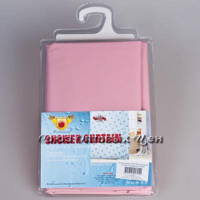 штора в ванну 180*180 однотонная XT-850-2 розовая