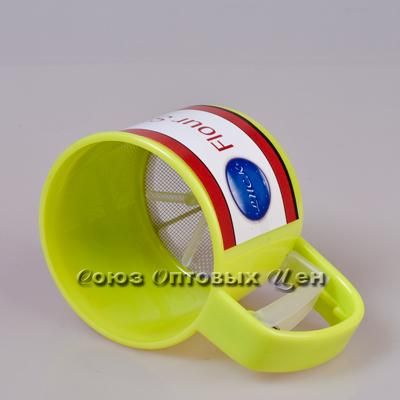 сито кружка для просеивания муки пластик 400гр (10см) уп/18шт  СС-L356