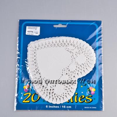 салфетки бумажные сервировочные сердечки 16,5см уп 20шт