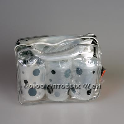 набор для ванной 5пр. в прозрачной сумке 009В-А