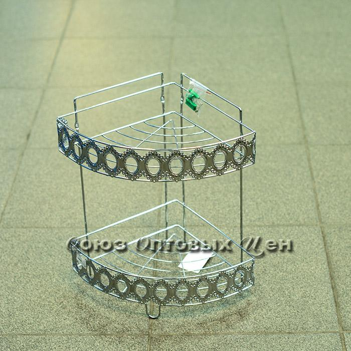 Полка в ванну металHP58-016 угловая 2 яруса