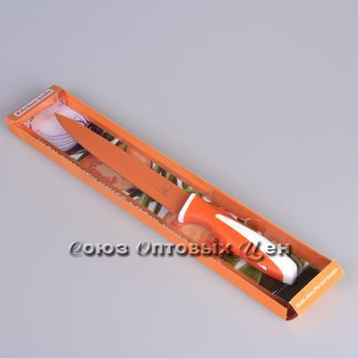 нож метал цветной 19 см в уп 30шт