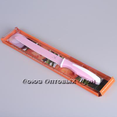 нож метал цветной 19 см в уп 12 шт