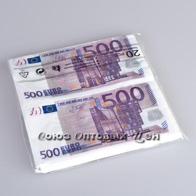 салфетка бумажн. 33*33см 2-х  Евро 500 S-500 уп 12 шт