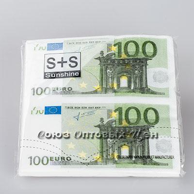 салфетка бумажн. 33*33см 2-х Евро100 S-100 уп 12 шт