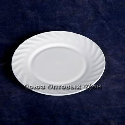 "тарелка стеклокер белая 9""(23см) НР90 SH-4 уп 6!!"