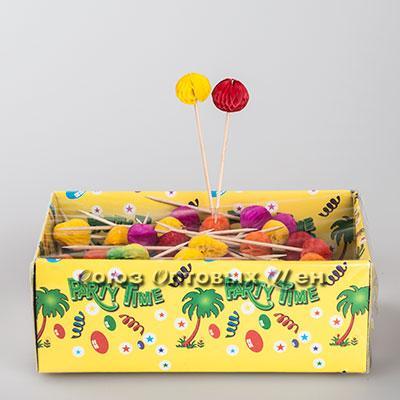 канапе фрукт очищенный украшение д/бара 10см GL126 1/100шт