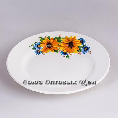 тарелка 200 мел гр8 Желтый цветок 056 уп/26