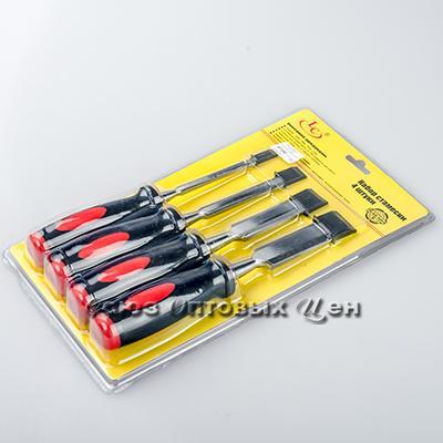 Набор стамесок 6-12-18-25 мм пластмассовая ручка уп 6 лист