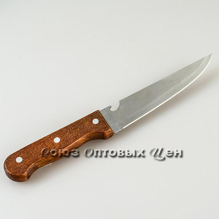 """нож кухонный с открывашкой дерево ручка лезвие 7""""арт А008"""