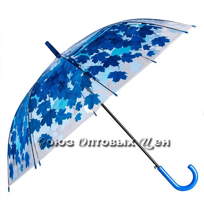 зонт женский прозрачный трость полуавтомат ,осень S-8