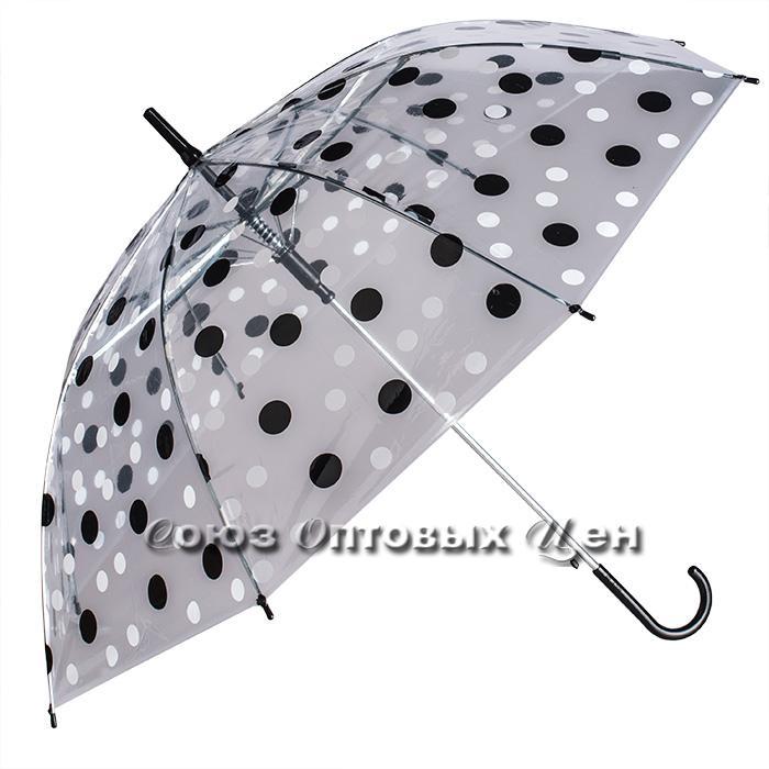 зонтик детский трость прозрачный полуавтомат S-9