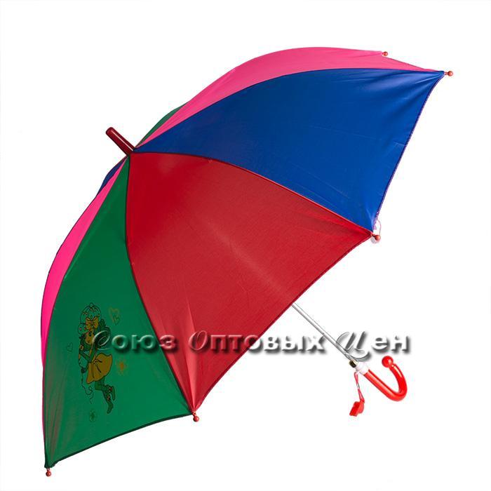 зонтик детский трость полуавтомат цветной S-11