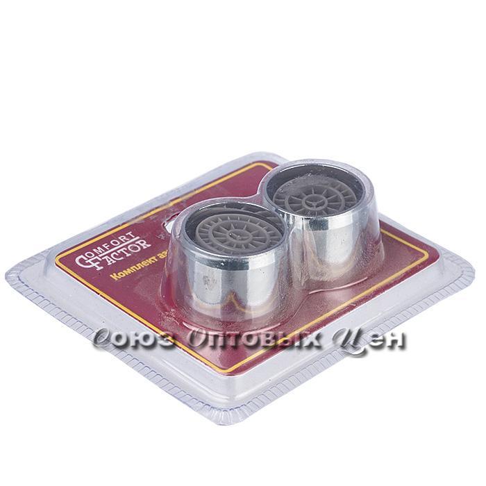 аэраторы д/круглого излива метал.,22 х 1,(2шт.блистер) ( 250шт)