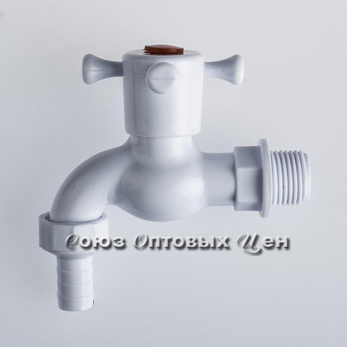 кран пластм водоразборный 1/2 (крест) 8033(кор 500шт)