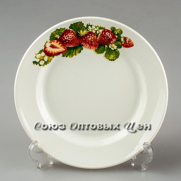 тарелка 200 мел гр8 Клубника новая 056 уп/26 шт.