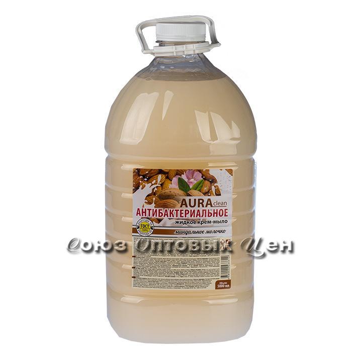 Жидкое мыло Антибактериальное Миндальное молочко 5л (РК), АУРА, арт. 2735